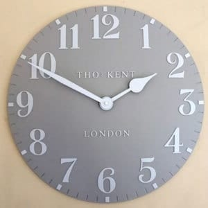 Thomas Kent Arabic 20 Wall Clock
