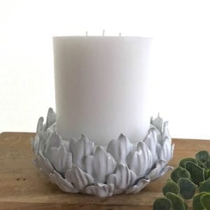 White Petals Candle Holder