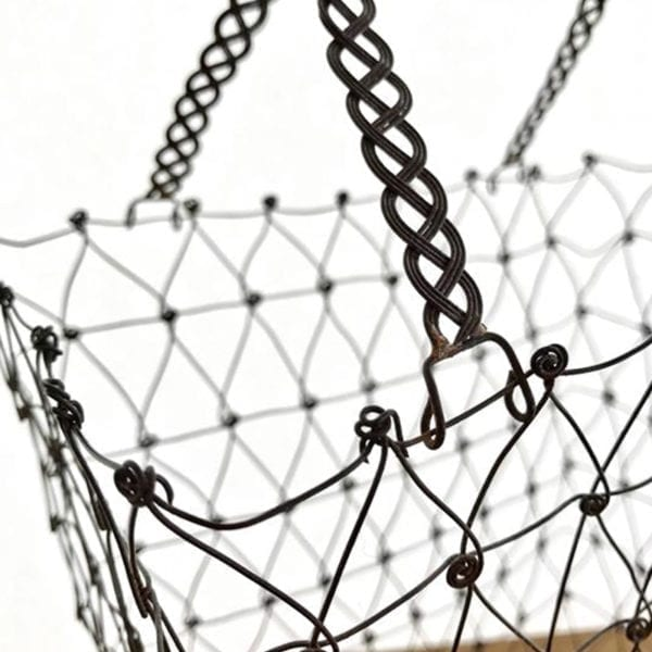 Woven Wire Basket Close Up